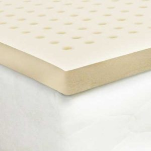 Certified Organic Latex Mattress Topper by Organic Textiles. Medium firmness, 2-inch thick. Queen size. Premium Version – All Organic